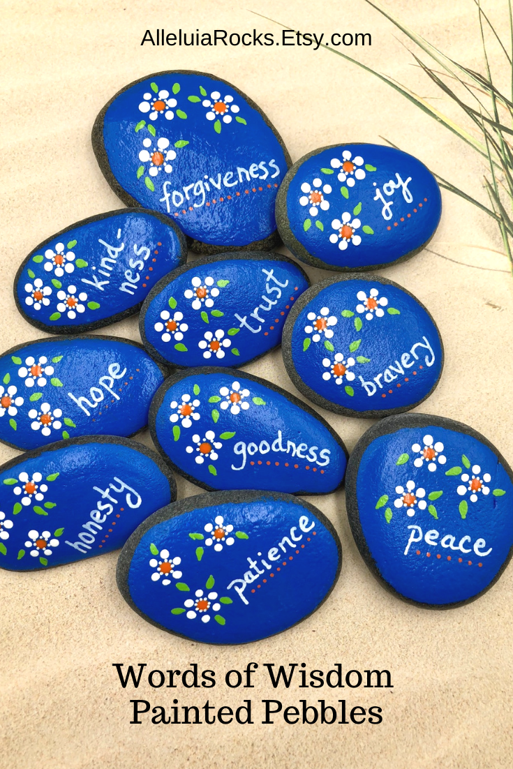 Words of Wisdom Painted Stones