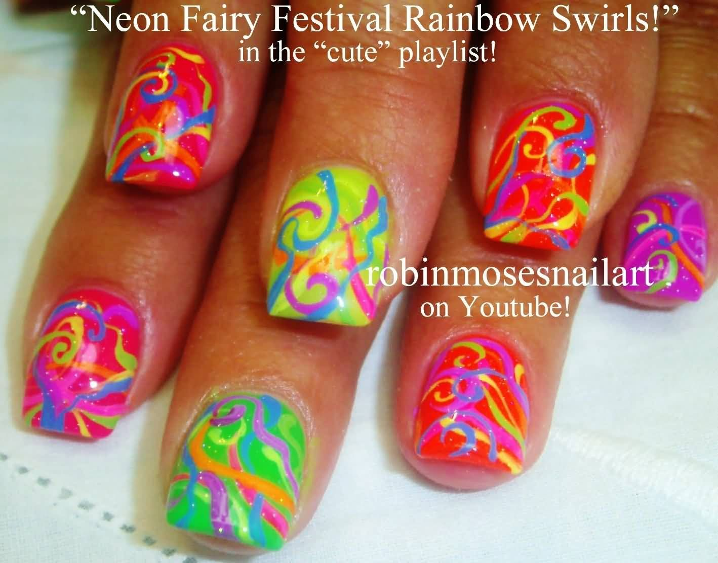 Colorful Neon Color Nail Art Ideas Just For You   Color nails and ...