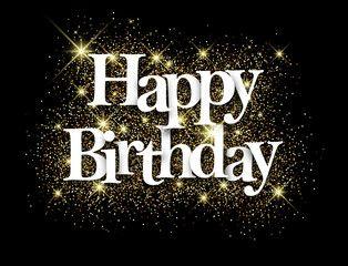 Vector Happy Birthday Black Background Happy Birthday Black