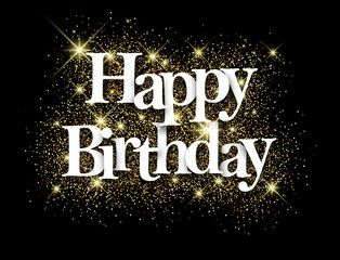 Vector Happy Birthday Black Background Happy Birthday Bestie Happy Birthday Black Happy Birthday