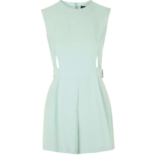 c5f6eb3472 TOPSHOP PETITE Cut-Out Romper ( 50) ❤ liked on Polyvore featuring jumpsuits