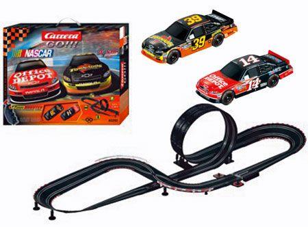 Carrera Go Series Nascar Talladega 1 43 Slot Car Set At Hobbytron Com Carrerabahn Carrera