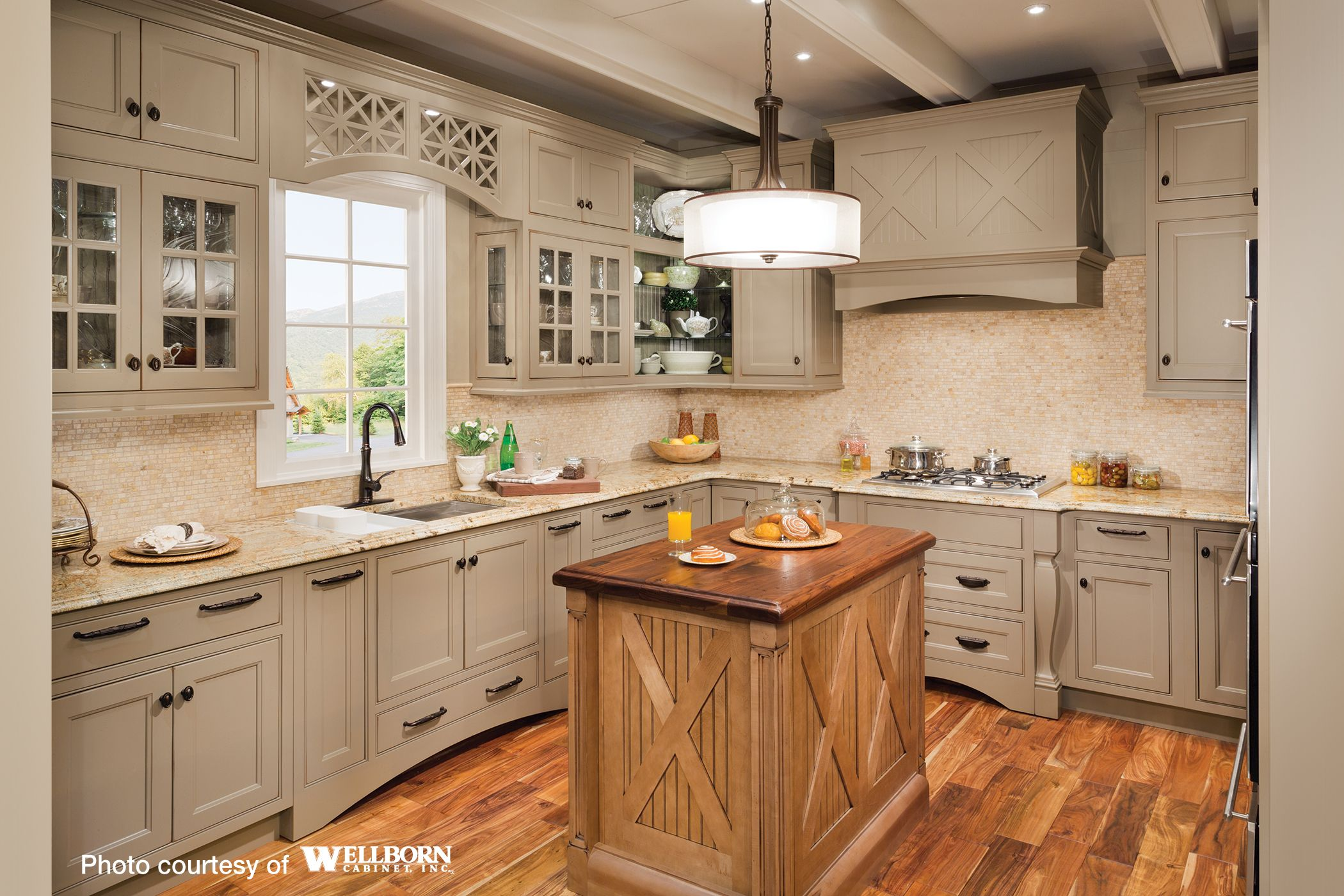 cherry maple kitchen cabinetry by wellborn cabinet inc