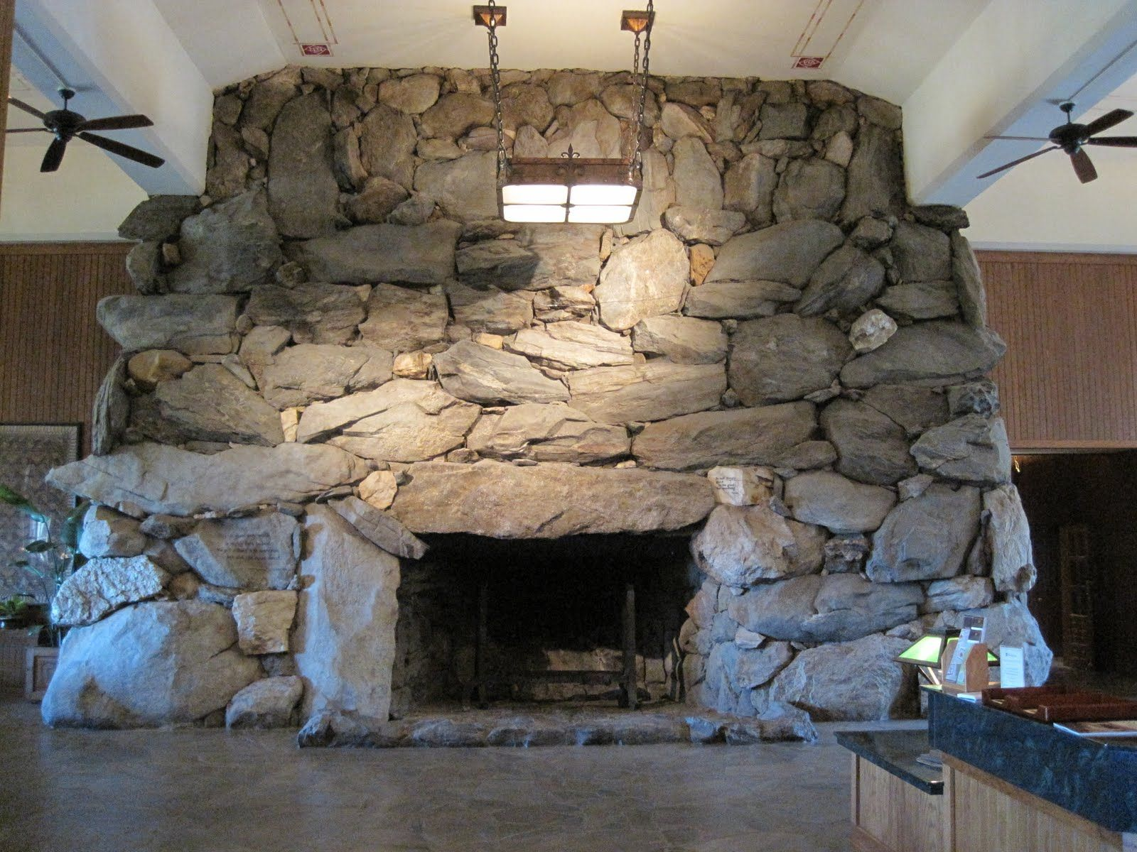 Fireplace At The Grove Park Inn In Asheville North Carolina This