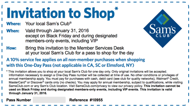 How To Get A One Day Pass To Sam S Club