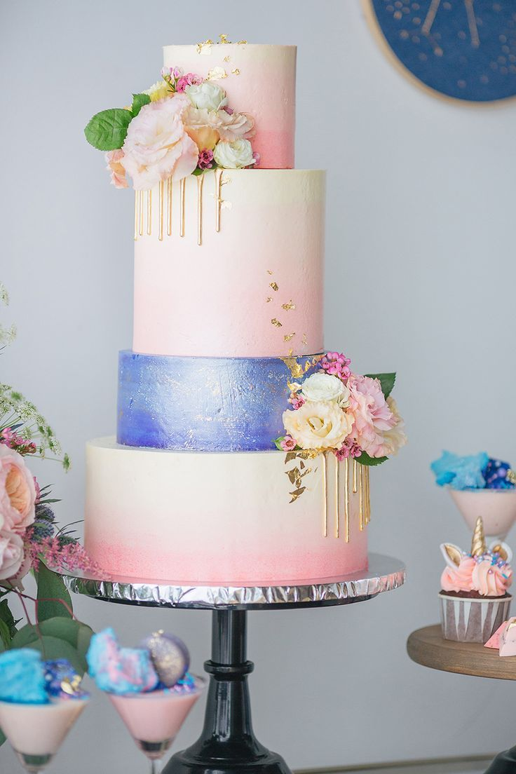 Unicorn And Galaxy Themed Wedding Dessert Table Styled Shoot In 2019