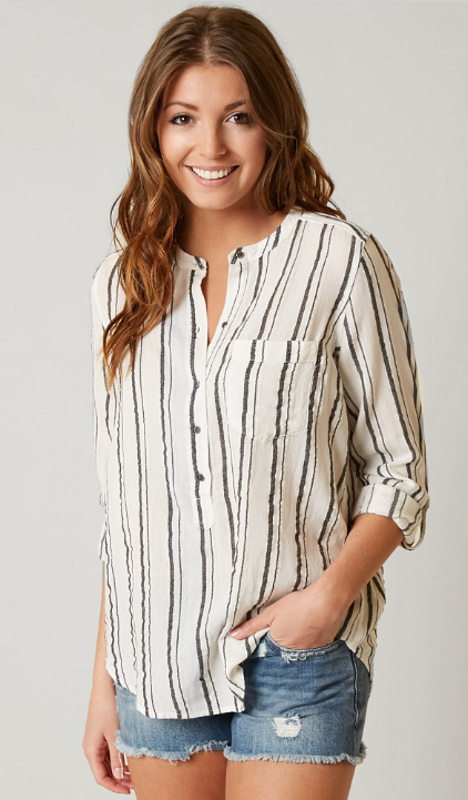 f7adc314 Lucky Brand Striped Henley - Women's Clothing | Buckle | Neutrals ...