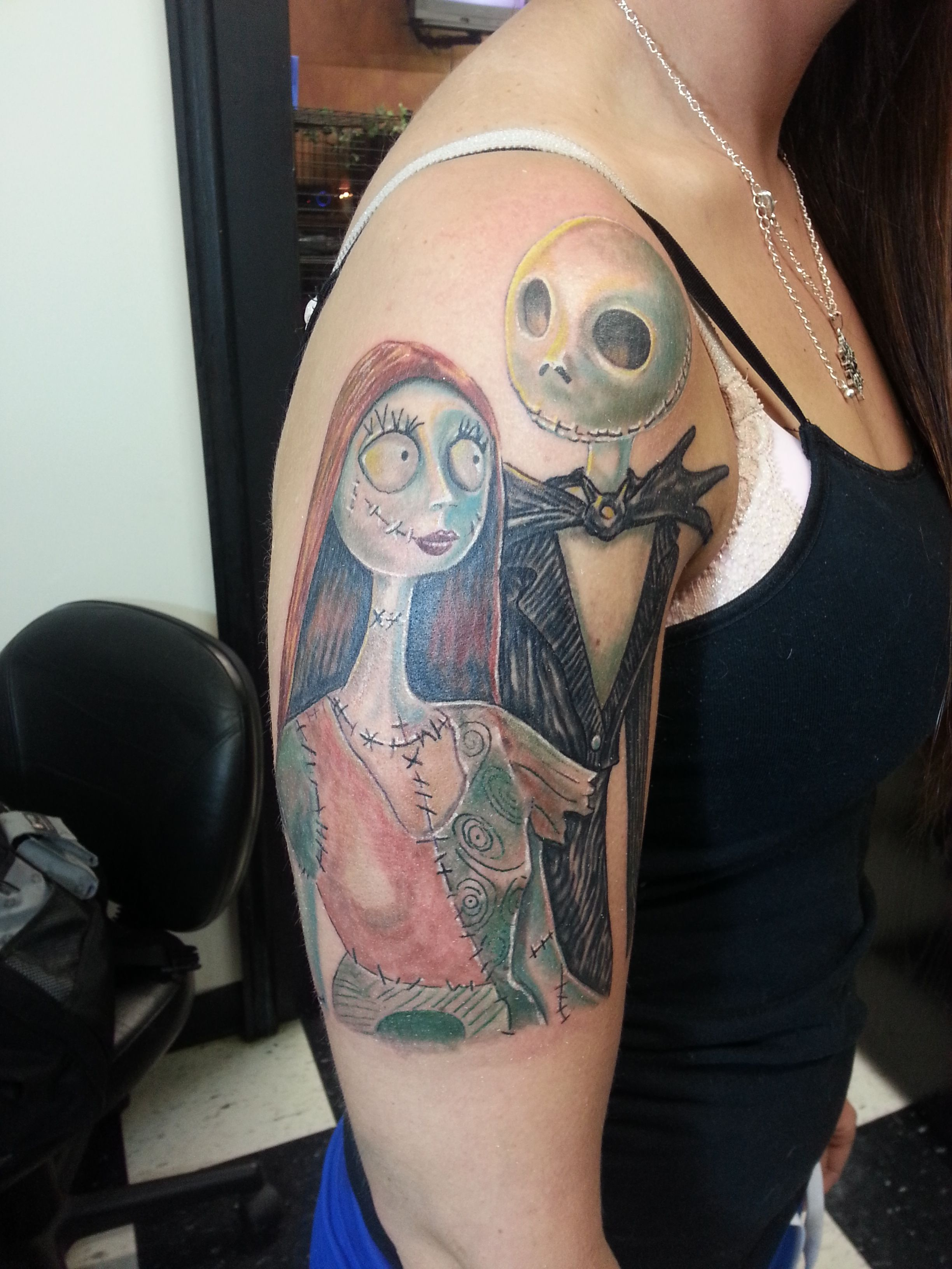 Image result for nightmare before christmas sally and jack tattoo