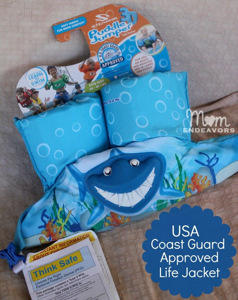 Puddle Jumper Life Jacket Fun Swim Aid Coast Guard Approved Life