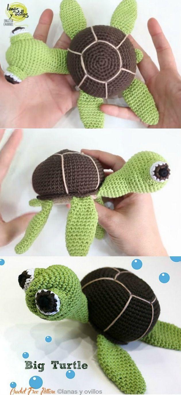 Big Turtle Free Crochet Patterns