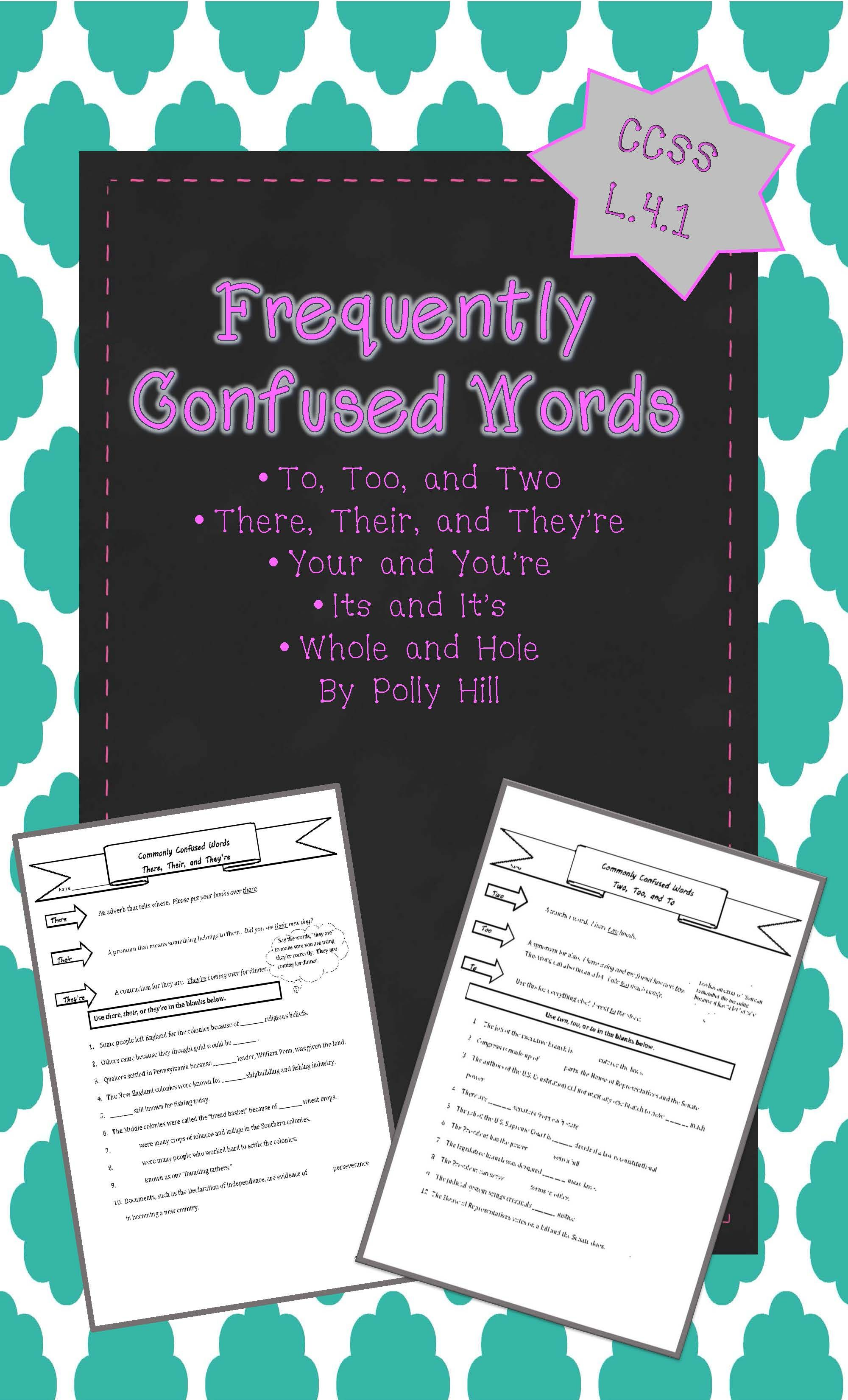 Frequently Confused Words Homophones