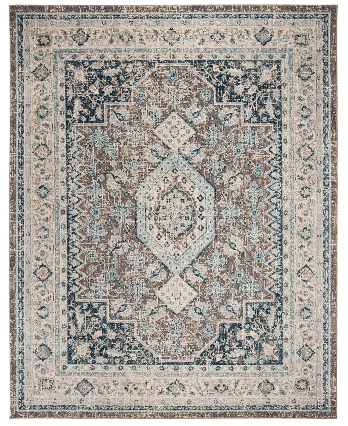 Safavieh Phoenix Gray And Blue 8 X 10 Area Rug Reviews Rugs