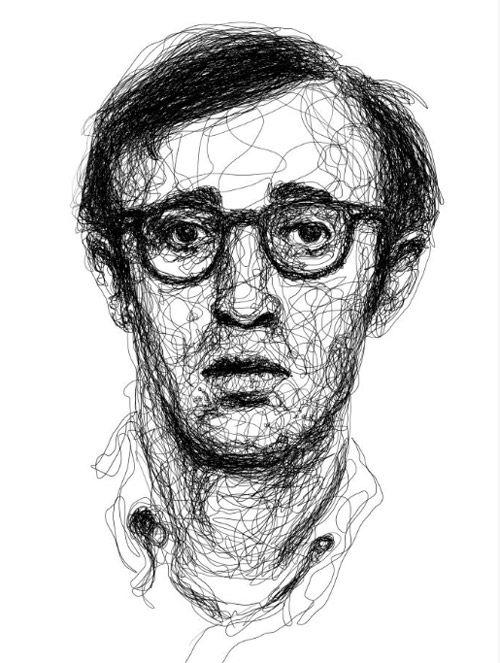 Woody Allen Retratos Foto Retrato Dibujos