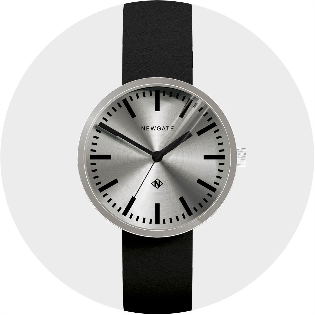 595cf51b328678 The Drummer Grand Oversized Minimalist Watch | Spun Steel | Black Leather  Strap An oversized straight-cut stainless steel cylinder case holds a  minimalist ...