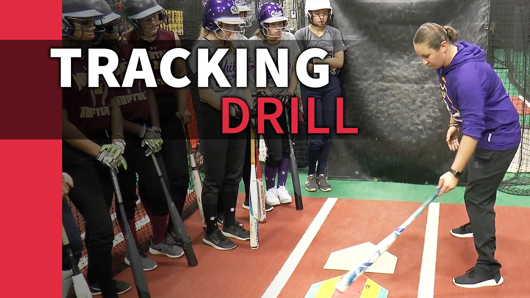 Hitting Tracking Drill The Art Of Coaching Softball Softball Coach Softball Hitting Practice Softball Drills