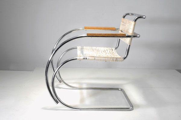 'MR-20 Weissenhof' cantilever chair, Berliner Metallgewerbe Josef Müller or Bamberg Metallwerkstätten, Berlin. Designed by Ludwig Mies van der Rohe, 1927
