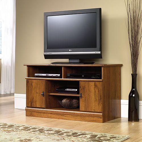 Sauder Harvest Mill Tv Stand Oak Wood Tv Console Wooden Tv