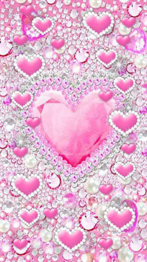 Pink Bling Wallpaper Pink Glitter Background Heart