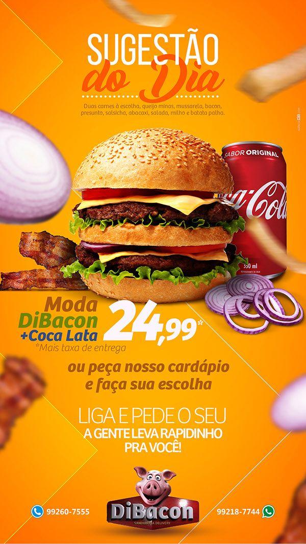 Unidade Cartazes de alimentos, Hamburguer logo, Design