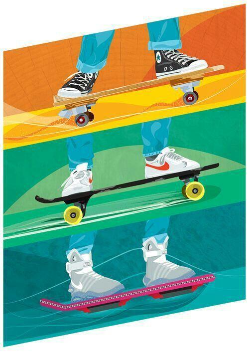 Imagenes De Skate Peliculas De Los 80 Volver Al Futuro