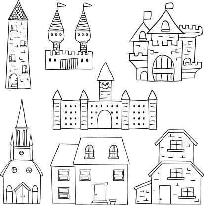 Step by step castle drawing | Ideas for art classroom | Pinterest ...