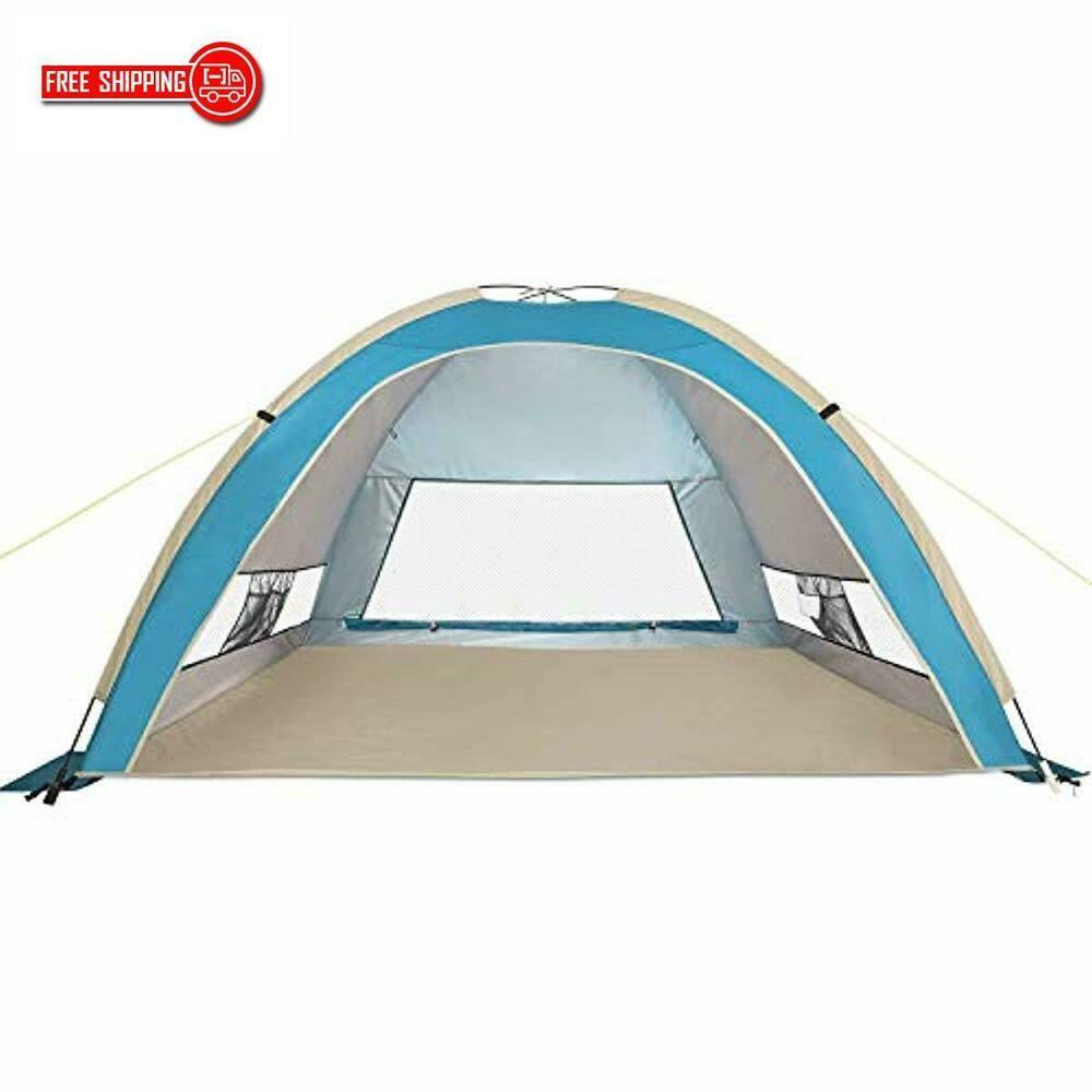 Large Pop Up Beach Tent Automatic Sun Shelter Cabana Easy Set Up Light We G4free Beach Beach Tent Pop Up Beach Tent Tent