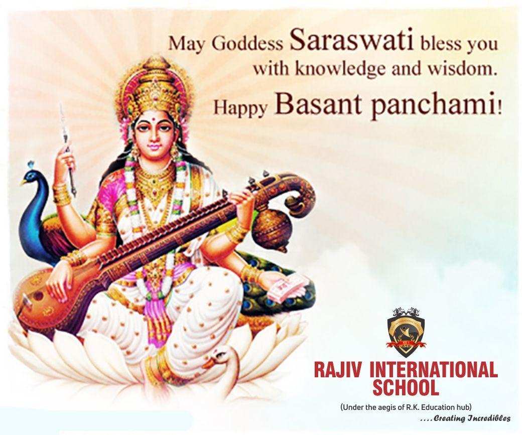 May Goddess Saraswati bless us all with knowledge & wisdom. #BasantPanchami  #RISChild   Basant panchami, Indian art paintings, Sai baba hd wallpaper