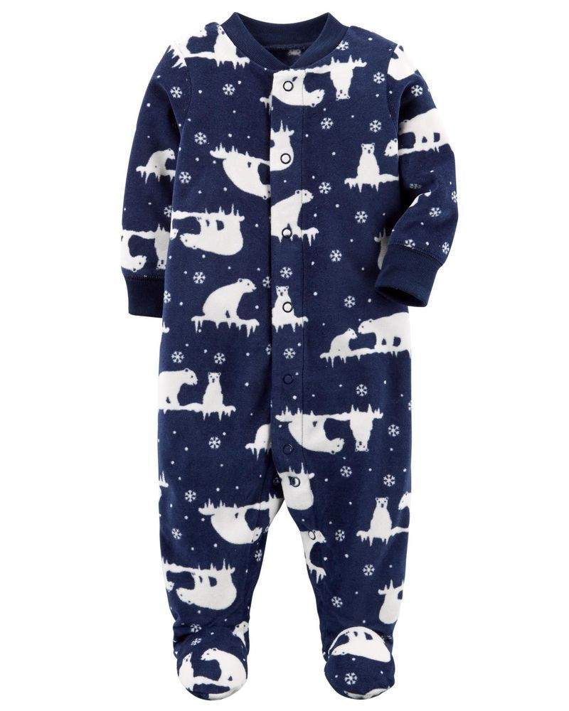 4ac07f557268 NWT Carters Baby Boy Clothes 9 Months One Piece Fleece Christmas ...