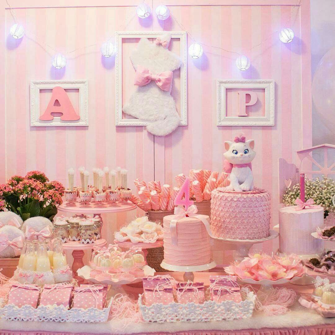 Ideas Para Decorar Un Cumpleaños De Niña Decoración Mary Party En 2019 Aristocats Party Puppy