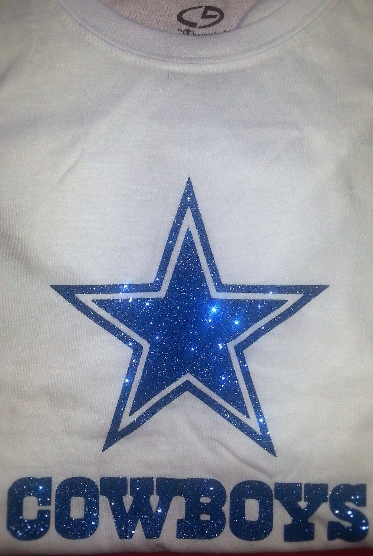cheap for discount 66dc2 ed136 Dallas Cowboys Glitter Bling Logo T-Shirt Iron on Custom ...