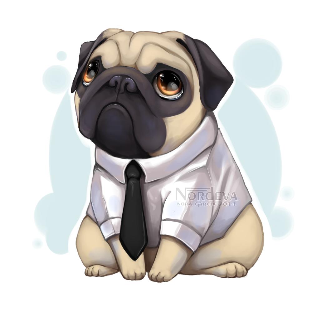 Nordeva Pug Cartoon Cute Pugs Pug Illustration