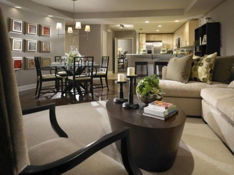 45 Extraordinary Living Room Decoration Ideas For Spring And Summer Livingroomdecor Living Room Dining Room Combo Small Living Room Design Living Dining Room
