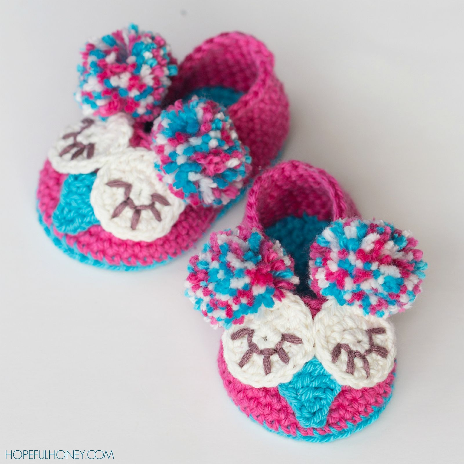Owl Baby Booties By Olivia Kent - Free Crochet Pattern - (ravelry ...