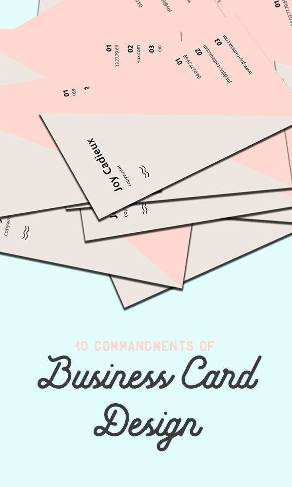 10 commandments of business card design successful business