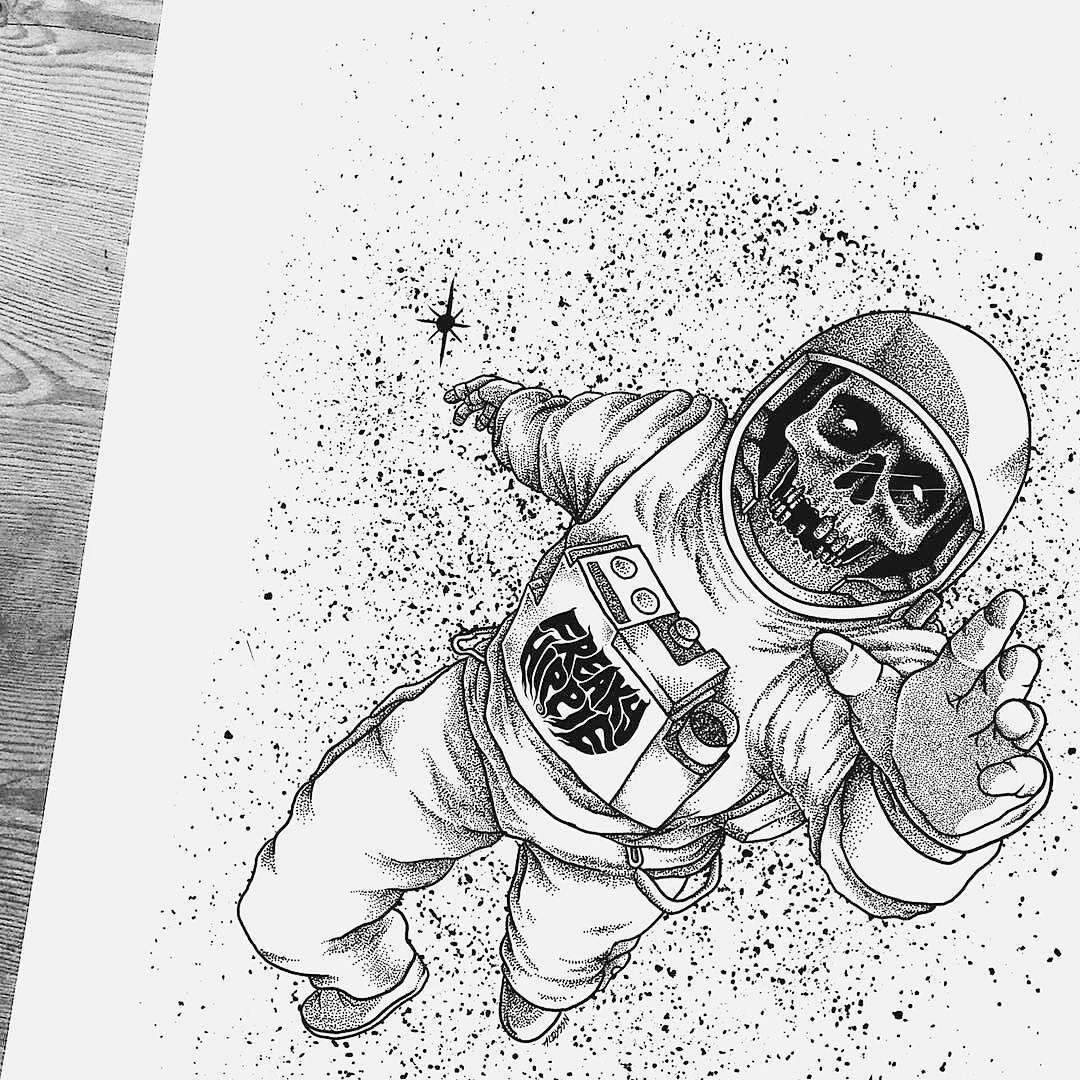 астронавт картинка для тату действительно можете