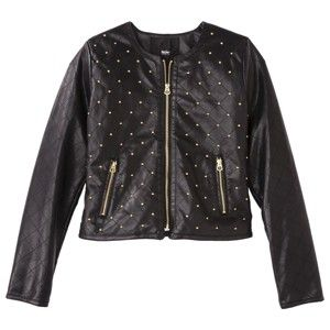 Mossimo Women S Studded Faux Leather Jacket Target Mobile