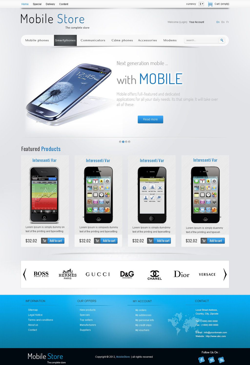 Mobile Store Free Psd Template Free Psd Templates Pinterest