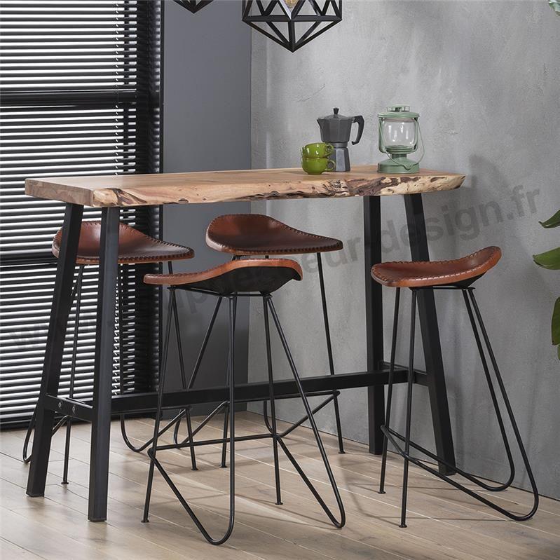 table haute de cuisine tronc d arbre