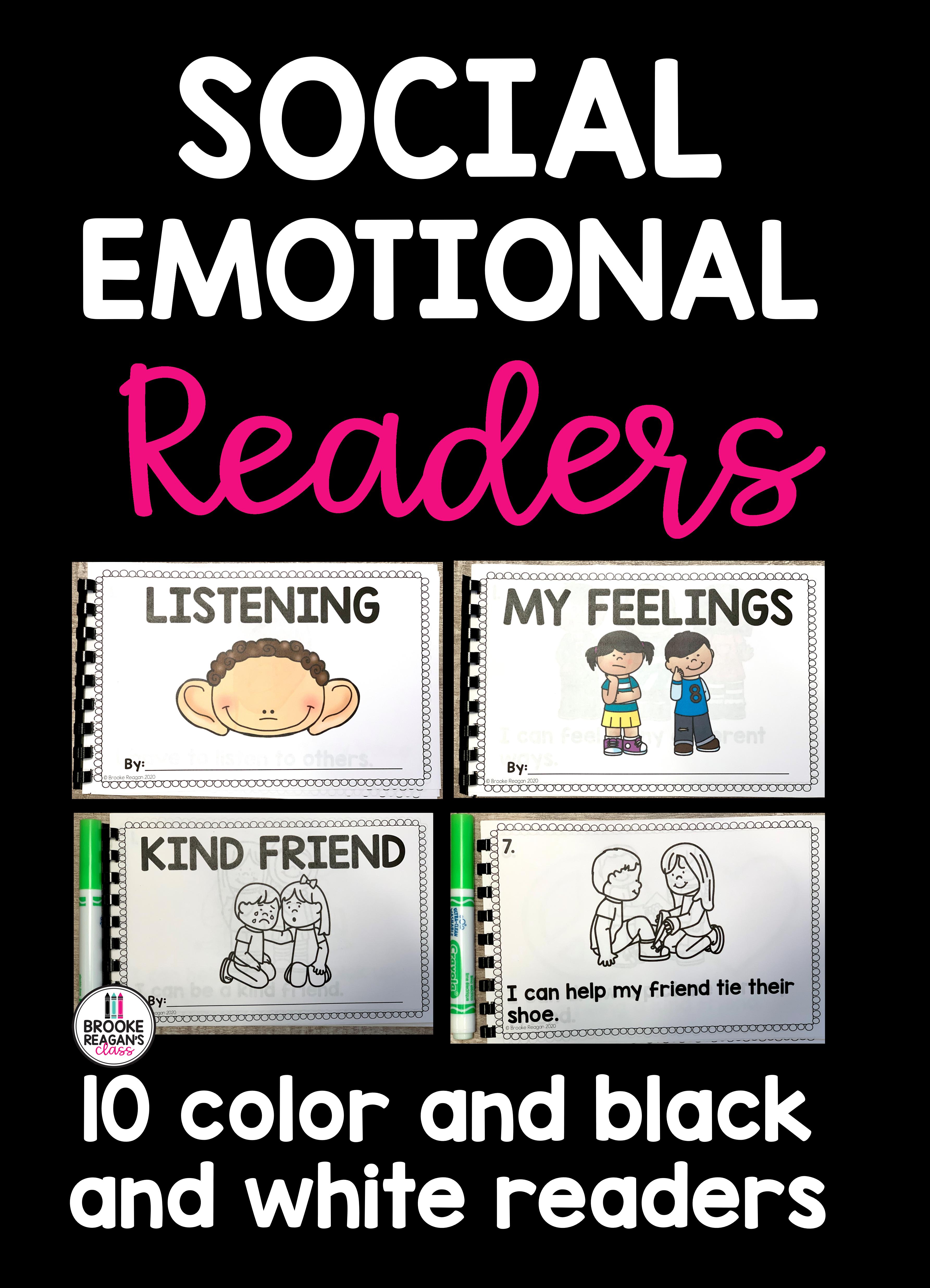 Social Emotional Emergent Readers 10 Sel Readers In