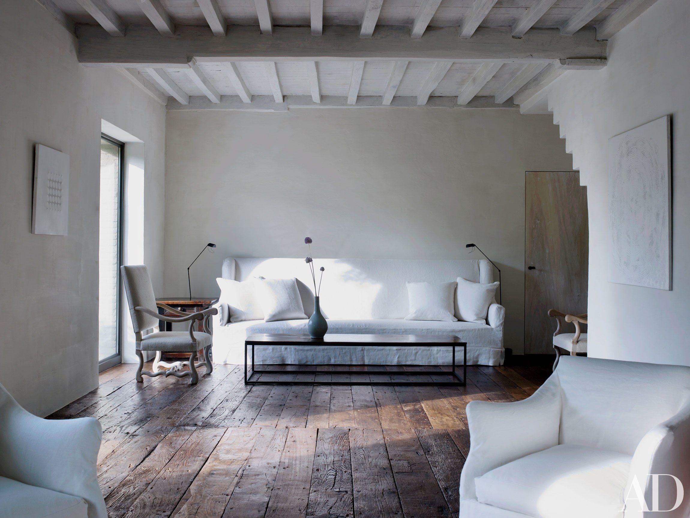 Elegant Interiors By Axel Vervoordt Home Rustic Living Room