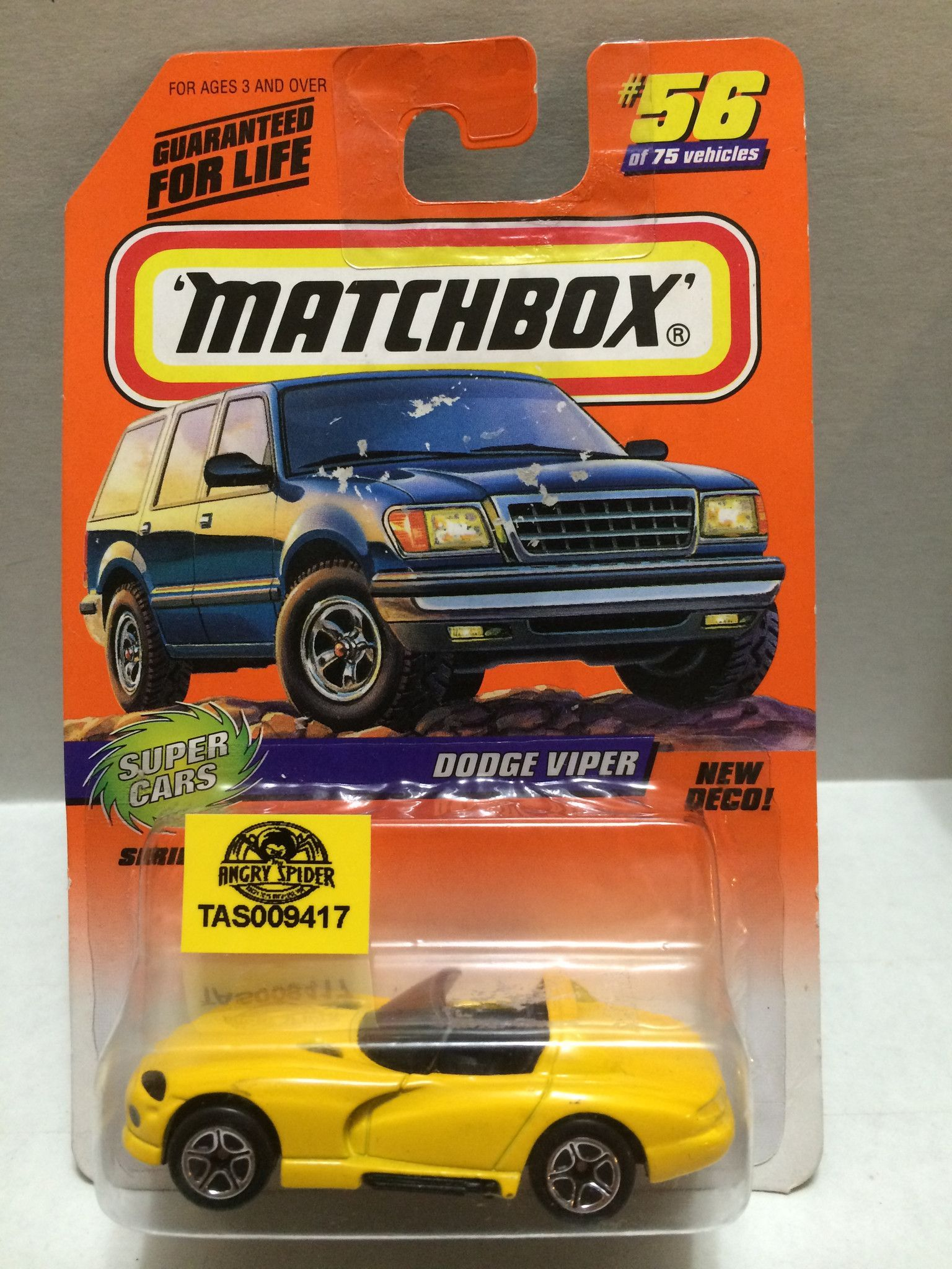 Toys cars 3  TAS  Matchbox  Dodge Viper  of   Dodge viper Viper