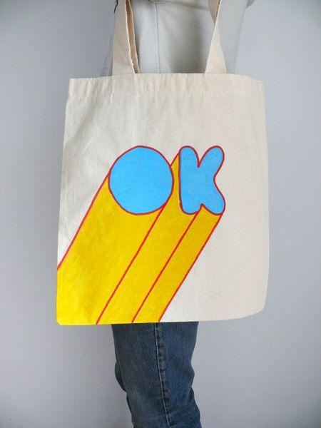 Hand Printed And Silkscreen Tote Bags