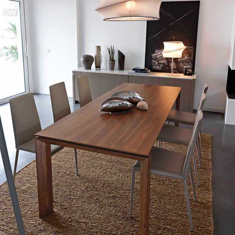 Omnia Wood 180 Extendable Dining Table Tables Calligaris Modern Furniture