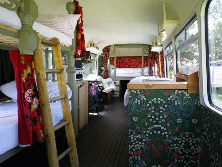 30 Cozy Bus Camper Interior Ideas