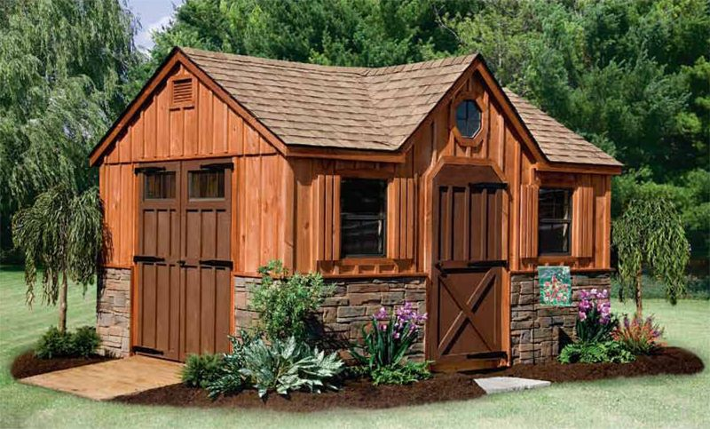 Rustic Garden Sheds | Rustic ShedsThis Is A Mansion Garden Shed...ha Ha