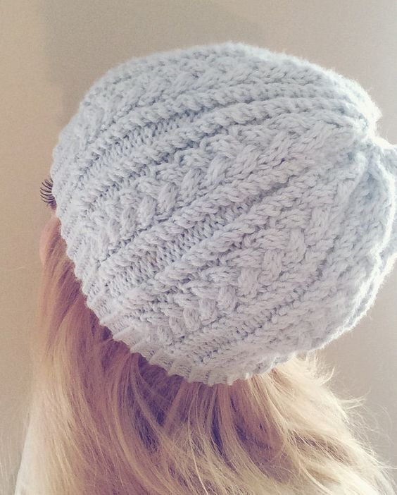 Free Knitting Pattern for 4 Row Repeat Katherine Hat - Twisted rib ...