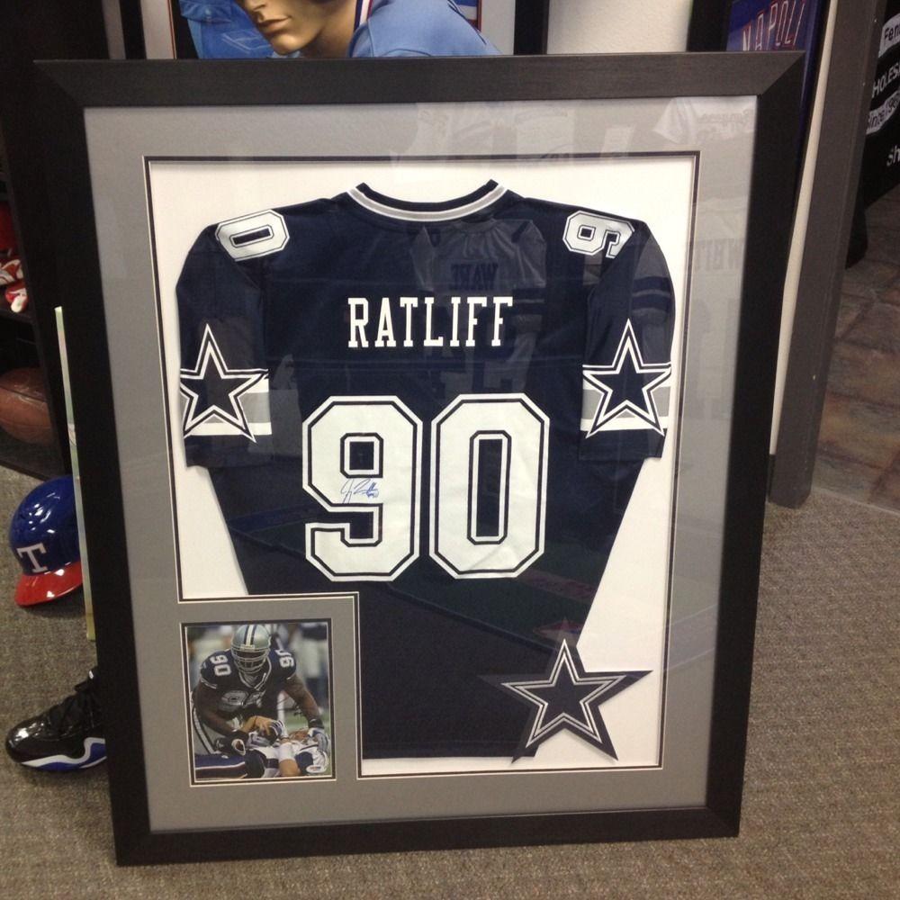 Jay Ratliff Dallas Cowboys Framed Autographed Jersey   Dallas ...