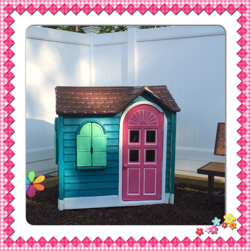 Little Tikes House Makeover | Painted outdoor toys | Pinterest ...
