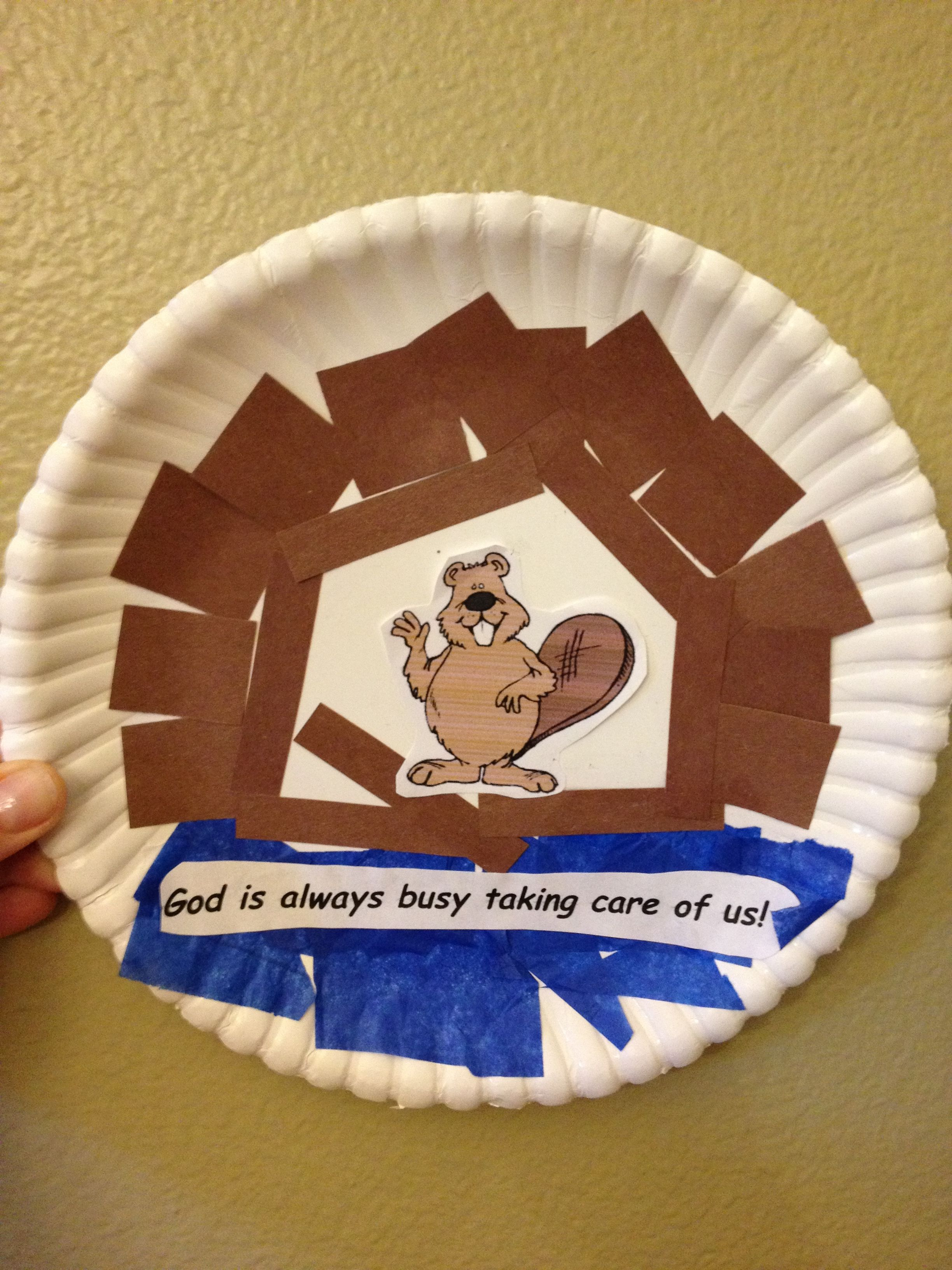 beaver craft for vbs national park theme bible lessons