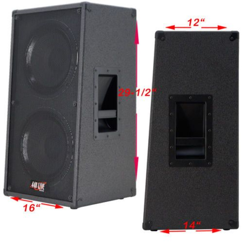 2X12 Vertical Slanted guitar Speaker Empty Cabinet Charcoal Black ...